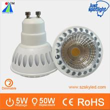 Luxury aluminum GU10 dimmable 5.5w led light mini spot with high lumens