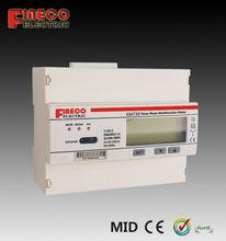 rs485 interface kwh meter three phase electronic energy meter din rail dual tariff energy meter