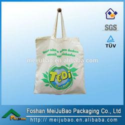 latest customized plain natural color canvas tote bag