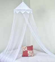 White Circular Pop Up Mosquito Net for Kids