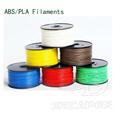 2014 popolare di alta qualità ABS/pla filamento per stampante 3d in 1.75mm/3mm