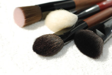Flat Top Round Natural Wood Animal Hair Makeup Brush