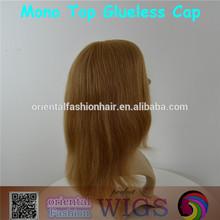 Wholesale Natural Woman Human Hair Mono Top Wig Mono Filament