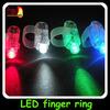 custom Logo Printed led Finger Ring Flashing LED Light