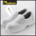 Branco cozinha calçados de segurança, branco sapatos de enfermeira, esd sapatos l-7019