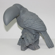 Polyresin animal statue for home decoration ,Bird clay model for reference