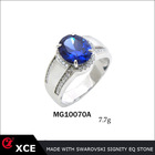 hot sale new design sapphire 925 sterling silver men ring