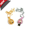 cheap jewelry necklace/pendant crystal usb flash drive 2G/4G/8G