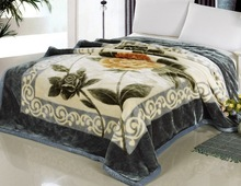 flowers printed raschel/mink blanket excellent in quality and resonable in price