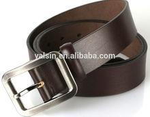 nbg10235 factory price low MOQ genuine leather belt men brown belt needlepoint buckle