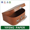China manufacturer wholesale cute high quality custom recycled paper cardboard suitcase box with handle