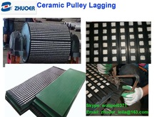 high friction rubber ceramic lagging for conveyor pulley in mining industry