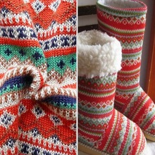 Fashionable material knitting acrylic fiber wool fabric for autumn winter season boots and garments