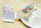 Floral Transparent PC Hard Fancy Phone Case for Iphone5/5s