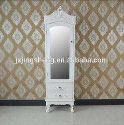 Wooden armoire DIY wardrobe bedroom boudoir cabinet bedside wall storage cabinet EU hot sale cloth wardrobe furniture