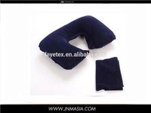 purple U neck cushion pillow. soft air travel U shape cushion set