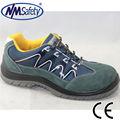 nmsafety genuíno couro camurça de segurança calçado de segurança calçado de botas de segurança