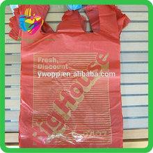 Yiwu hdpe wholesale plastic t-shirt shipping bag