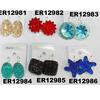 wholesale make christmas crystal clip on earrings