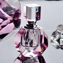 Color printing pink fragrance bottle,crystal oil bottle for islamic gifts