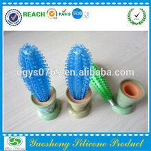 Popular colorful cactus shape silicone pen on wholesale
