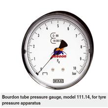 111.14 WIKA Bourdon tube pressure gauge, diaphragm seal pressure gauge