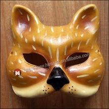 New Wholesale eva animal mask for kids Handpaint cat face Mask for carnival