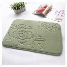 Shine Coral fleece mats/Memory foam bath mat_ Qinyi