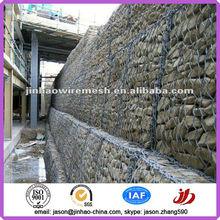 El alambre galvanizado gavión / gaviones de piedra colchón / galvanzied gaviones cesta