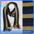 горячий продавать оптовые ювелирные муёчин полосатые вязание шарф