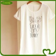 2014 high end fashion and high quality ladies t-shirt