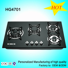 Wholesale used appliances Built-in Tempered Glass Kitchen 5 Burner Gas Cooking Range / Gas Hob/ Gas Cooker HG4701