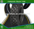 Fg808 forgood tout l'acier radial pneu de camion de marque, tube à air pour rugueux. moyen et voie haute