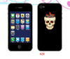 full body custom skull head skin for iphone 4/5