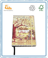 High Quality a5 Color Printed PU Decorative Hard cover note books