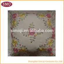 virious flower fabric cushion , cushion cover fabric , satin fabric embroidery cushion cover