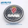 ABS silver chrome black carbon fiber SAAB car front and rear emblems