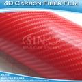 Chino etiqueta engomada del coche 5FTx98FT nueva 4D película del abrigo etiqueta engomada casco de fibra de carbono