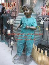 Quyang jinkun carving bronze Child statues for garden decoration sculptures