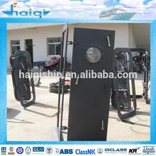 Three Switch Handles Stainless Steel/ Aluminium Marine Watertight Door with Glass for boat