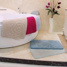 super soft microfiber polyester mat exam for bedroom/Memory foam bath mat_ Qinyi