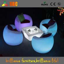 Led de plástico que cambia de color moderna brillante muebles de color para el jardín