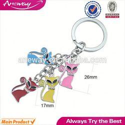Fashion Custom Cheap Metal Rosary Key Chain,Connecting Metal Key Ring,Metal Custom Keychain