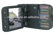 car dvr recorder 1.5 inch TFT LCD 5.0 Mega Pixels 4x digitl zoom with motion detection built-in GPs hd car camera