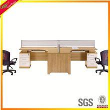 Easy fitting 2 seats office workstation, office workstation desk for staff