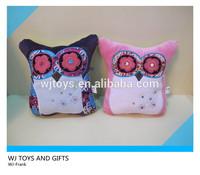 Soft stuffed animal owl toys plush cushion