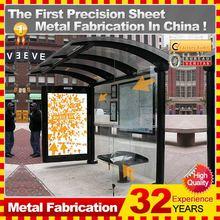 Cantilever Stainless Steel metal bus stop shelter freestanding/flush bonding