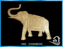 Antique stone elephant sculptural