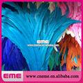 Venta caliente de color turquesa cola de gallo de plumas para elaboración de, la decoración, de la boda, el atado de moscas, traje de