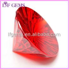low price High quality round garnet synthetic cz zircon